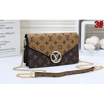 LV Louis Vuitton Popular Women Shopping Leather Metal Chain Shoulder Bag Crossbody Satchel 3#