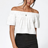 Kendall & Kylie Embroidered Off-The-Shoulder Top at PacSun.com