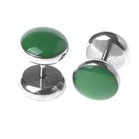 Fake Plugs Green Stainless Steel Cheater Gauges 16G Illusion Jewelry