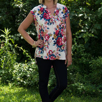 It's Simply Irresistible Floral Blouse - Blush