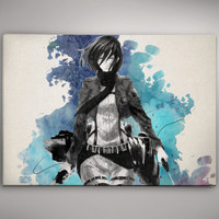 Mikasa Attack on Titan Anime Shingeki no Kyojin Watercolor Print Poster 11.70 x 16.50 A3 No179