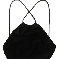 Kissmax XBack Halter Top in Black