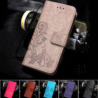 For iPhone 7 Plus 4S 5S 4 5 6 S Leather Flip Case For Samsung Galaxy A3 A5 J3 J5 2016 J1 S7 S6 S3 S5 S4 Mini Grand Prime Cover