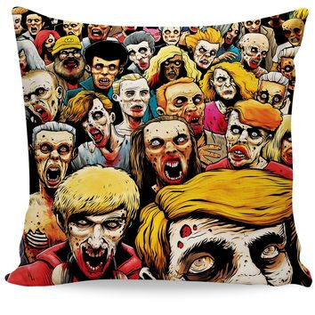 Zombies at the Mall Couch Pillow