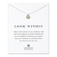look within eye necklace, sterling silver - Dogeared