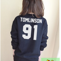 Tomlinson 91 Jumper Unisex Black or Grey S M L Tumblr Instagram Blogger