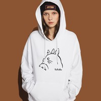 Hot Sale Hoodies For Women 2017 Spring Winter Sweatshirts Fleece Print TOTORO Kawaii Cute Anime Hoody Lady Tracksuit Harajuku