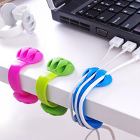Headphone Headset Wire Wrap Cord Winder Organizer Cable Collector Silica Headset data cable fixed storage folder Securing clip