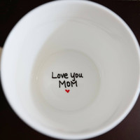 Love You Mom Coffee Mug, Gift For Mom