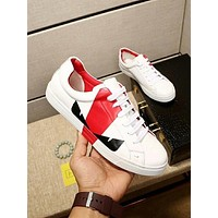 FENDI Newest Popular Men Casual Leather Sport Shoes Sneakers Red