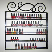 Hanging Wall Nail Polish Rack Catch the Wave by daisypam2011