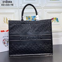 Christian Dior Women Leather Shoulder Bags Satchel Tote Bag Handbag Shopping Leather Tote Crossbody Satchel 829