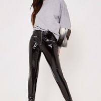 dawn black vinyl zip leggings