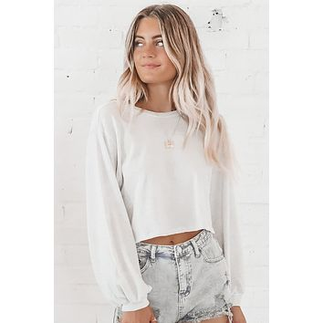 You're My Go To Gray Crop