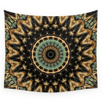 Society6 Mandala Black 2 Wall Tapestry