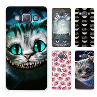 Alice in Wonderland Cheshire Cute Cat Clear Transparent Cell Phone Case Cover for Samsung Galaxy A3 A5 A7 A8 A9 2016 2017