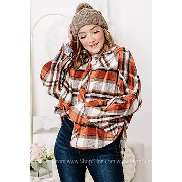 On The Bon Fire Nights Soft Brushed Flannel Jacket