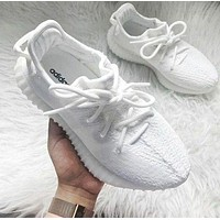 Samplefine2 Adidas Yeezy 550 Boost 350 V2 Fashion Couple Casual Running Sport Shoes Sneakers White