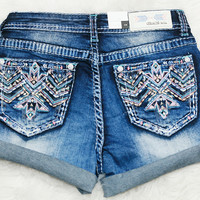 GRACE IN L.A. SPEARHEAD EASY ROLLED SHORTS