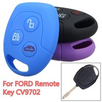 Soft Silicone Car Key Case Cover For FORD Focus Mondeo Festiva Galaxy C-Max Remote Key CV9702