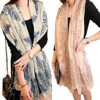 Women's fashion long big wraps scarf soft hot new autumn winter scarves , cute , floral printed = 1945996164