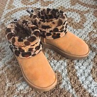 UGG hot sale warm and fluffy new low-tube non-slip snow boots ladies fashion fluffy casual snow shoes