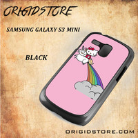 HELLO KITTY UNICORN Snap on 2D Black and White Or 3D Suitable With Image For Samsung Galaxy S3 Mini Case