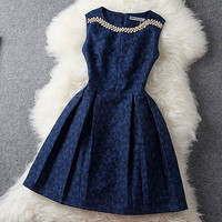 Cute Dress with No Sleeves