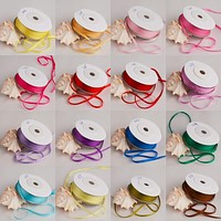 10m/roll, 2mm width, 100% Real Ppure Silk Ribbons for Embroidery and Handcraft Project,Woven Double Face Taffeta Silk Tape Roll