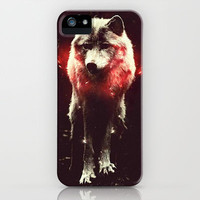 Lone Wolf iPhone & iPod Case by Amy McCuiston