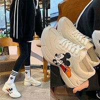 Gucci new daddy shoes women couples all-match thick-soled sneakers increase shoes