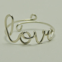 love ring - sterling silver 925, Handcrafted ring gift for you and friends