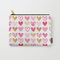 Doodle Hearts Carry-All Pouch by All Is One