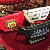 Gucci Fashion Letter Graffiti Printed Belt Leisure Women's Wallet