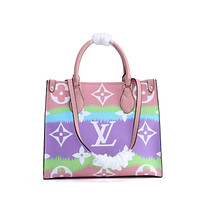 LV Louis Vuitton MONOGRAM LEATHER ONTHEGO HANDBAG SHOULDER BAG