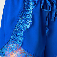 HIGH WAISTED BLUE LACE SHORTS | PUBLIK | Women's Clothing & Accessories