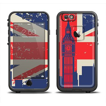The Vintage London England Flag Apple iPhone 6 LifeProof Fre Case Skin Set