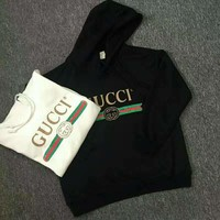 GUCCI Women Man Fashion Print Long Sleeve Top Sweater Pullover Hoodie G-spring-CLFSGCJDZ