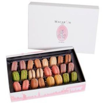 Macaron Cafe 24 Macarons from Macaron Cafe in New York City- Large Luxury Gift Box- Deliverable Nationwide- Freshness guarenteed