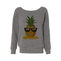 Pineapple Man Wideneck Sweatshirt