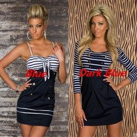 Sexy Quality Pin Up Girl Sailor Marine Costume Style Dress Clubwear Gogo Dance Ball Party