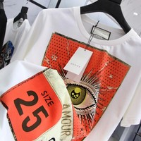 NEW 100% Authentic gucci 2018ss eyes t shirt ※023