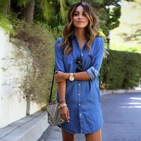 Women Fashion Casual Party Mini Jean Dress = 1931526404