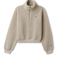 Flow Sherpa Turtleneck - Beige - Hoodies & sweatshirts - Weekday GB