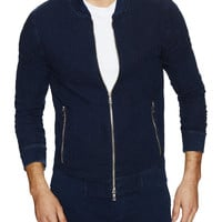 Cotton Citizen Men's Bomber Jacket - Dark Blue -