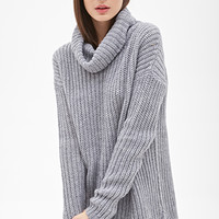 FOREVER 21 Oversized Turtleneck Sweater