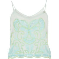 River Island Womens Light green Pacha embellished cami