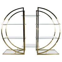 Pre-owned Milo Baughman  Style Brass Etagere