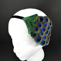 Great Gatsby Headband 1920s Flapper Costume by FlowerCouture