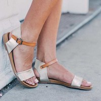 Zigi Soho Metallic Sandal - Women's Shoes in Gold Tan | Buckle